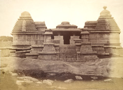 Triple-shrined temple on the Hemakuta Hill, Vijayanagara